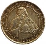 R/ Zecche Italiane. San Marino. 20 lire 1931. AG. Pag. 342. Bello SPL. Patina. s.v.