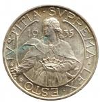 D/ Zecche Italiane. San Marino.Antica Monetazione. 10 Lire 1935. Gig. 13. SPL+.
