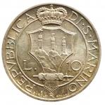 R/ Zecche Italiane. San Marino.Antica Monetazione. 10 Lire 1935. Gig. 13. SPL+.