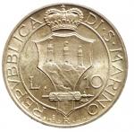 R/ Zecche Italiane.San Marino. Antica Monetazione. 10 Lire 1937. qFDC.