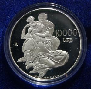 D/ Zecche Italiane.San Marino. 10000 Bimillenario della nascita di Gesù. Argento. In confezione originale. FDC.