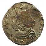 D/ Zecche Italiane. Solferino. Carlo Gonzaga (1639-1678). Giorgino. MIR 957a.Peso 2,02 gr. RR. MI. qBB.__