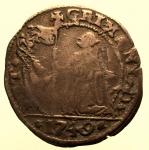 R/ Zecche Italiane. Venezia : Pietro Grimani 1749 . 15 Soldi qBB