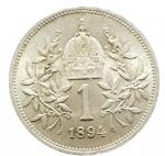 R/ Monete Estere.Austria. Francesco Giuseppe (1848-1816). Corona 1894. AG.SPL