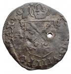 D/ Monete Estere - Francia. Avignone. Clemente VIII. Grosso Dozzeno. gr 2,19. Foro. BB. Patina
