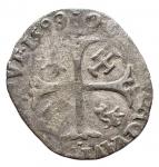 D/ Monete Estere - Francia. Avignone. Clemente VIII. Grosso Dozzeno 1599. gr 1,92. MB-qBB. Patina