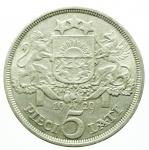 R/ Monete Estere.Lituania 1929.5 Lati Ag.BB+