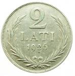 D/ Monete Estere.Lituania 1926.2 Lati.Ag.BB+