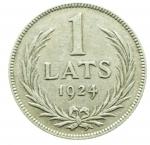 D/ Monete Estere.Lituania 1924.1 Lati.Ag.BB+