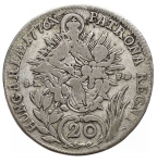 R/ Monete Estere - HUNGARY. 20 Kreuzer 1776 B SK PD Kremnica Maria Theresia. qBB