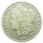 D/ Monete Estere. USA. Dollaro Morgan 1885. Peso gr. 26,80. Ag. qBB