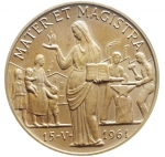 R/ Medaglie. Vaticano. Giovanni XXIII. 1961. Ae. MATER MAGISTRA. FDC.
