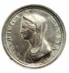 D/ Medaglie Parma . Maria Luigia (1814-1847) Piccola medaglia per il 10 anniversario. Opus Santarelli Federico pagg. 139-141 Ag Ø 12 SPL.gf