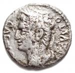 D/ Varie - Impero Romano. Augusto.27 a.C. - 14 d.C. Denario Ag. gr 2,97. mm 18,7. Testa a sn / Quadriga a sn