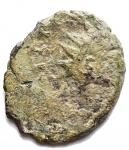 D/ Varie - Imperatori Romano Gallici. Ae incuso. gr 1,6. Patina verde