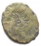 R/ Varie - Imperatori Romano Gallici. Ae incuso. gr 1,6. Patina verde
