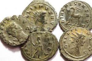 D/ Lotti.Impero Romano.Gallieno.Lotti di 5 Antoniniani di buona conservazione.w