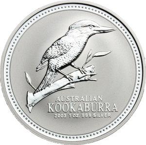 reverse: Australia.  Elizabeth II (1952 -). Dollar 2003 (1 oz 999 silver)