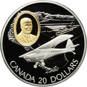 reverse: Canada.  Elisabetta II (dal 1952). 20 dollars 1995