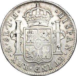 reverse: China.  Charles IV (1788-1808).. Chopmarked 8 Reales 1806 TH, Mexico City