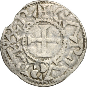 obverse: France.  Charles the Simple (898-922), as King of West France. AR Denier. Metallum (Melle) mint