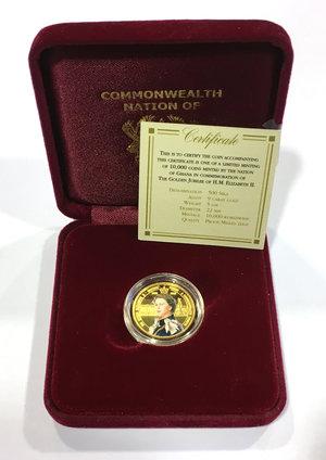 obverse: Ghana.  Elizabeth II (1952 -). 500 sika 2002