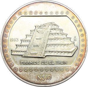 obverse: Mexico. 10 dollars 1993 (5 oz 999 silver)