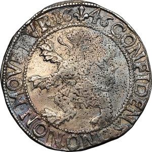 reverse: Netherlands. Lion Daalder. Kampen, 1646
