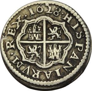 reverse: Spain.   Philip IV of Spain (1621-1665). 2 reales 1628