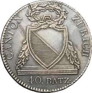 obverse: Switzerland. 40 batz 1813 B, Zurich