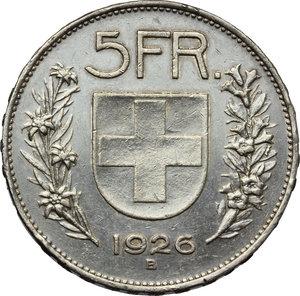 reverse: Switzerland. 5 francs 1926, Berne