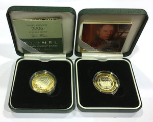 obverse: United Kingdom.  Elizabeth II (1952 -). Lot of two coins: two pound 2004 (steam locomotive) and 2006 (Brunel)