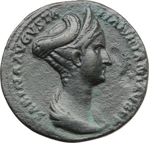 Sabina, wife of Hadrian (died in 137 AD).. AE Sestertius, Rome mint. Struck under Hadrian, 128-134 AD
