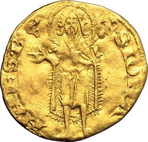 Firenze.  Repubblica ( sec.XIII-1532). Fiorino VI serie, 1312/II sem.  simbolo chiavistello: Lapo di Jacopo del Giudice