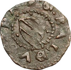 D/ Gubbio. Guidobaldo I di Montefeltro (1482-1508). Picciolo. CNI tav. II, 16. Cav. 24. MI. g. 0.66  mm. 15.00 R. qBB-BB.