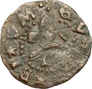R/ Gubbio. Guidobaldo I di Montefeltro (1482-1508). Picciolo. CNI tav. II, 16. Cav. 24. MI. g. 0.66  mm. 15.00 R. qBB-BB.
