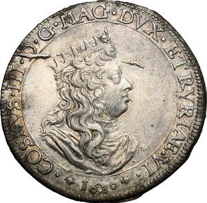 D/ Livorno. Cosimo III de' Medici (1670-1723). Tollero 1680.    CNI 14. Rav. Mor. 12. Di Giulio 129. AG. g. 27.00  mm. 40.00  RR. Metallo brillante con leggera patina dorata SPL.