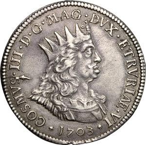D/ Livorno. Cosimo III de' Medici (1670-1723). Tollero 1703.    CNI 71. Rav. Mor. 15. Di Giulio 144. AG. g. 27.06  mm. 43.00  R.  qSPL-SPL.