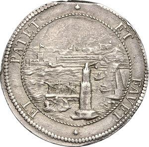 R/ Livorno. Cosimo III de' Medici (1670-1723). Tollero 1703.    CNI 71. Rav. Mor. 15. Di Giulio 144. AG. g. 27.06  mm. 43.00  R.  qSPL-SPL.