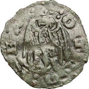 R/ Lucca. Signoria della Repubblica di Pisa (1342-1369). Aquilino piccolo.    MIR 138. MI. g. 0.45  mm. 15.50  NC.  BB.