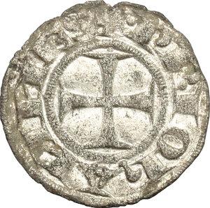 D/ Macerata. Giovanni XXII (1316-1334). Denaro.    M. 3. MI. g. 0.53  mm. 15.50  NC. Di alta conservazione per il tipo. Argentatura Bel BB.