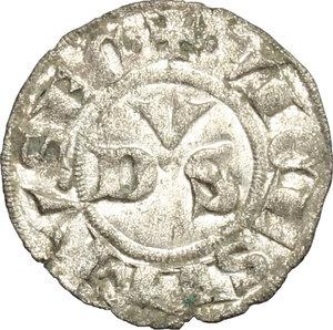 R/ Macerata. Giovanni XXII (1316-1334). Denaro.    M. 3. MI. g. 0.53  mm. 15.50  NC. Di alta conservazione per il tipo. Argentatura Bel BB.