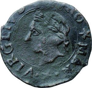 D/ Mantova. Francesco II (1484-1519). Quattrino. CNI 35/53. MIR 438. AE. 15 mm. g. 0.79 Bel BB.