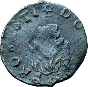 R/ Mantova. Francesco II (1484-1519). Quattrino. CNI 35/53. MIR 438. AE. 15 mm. g. 0.79 Bel BB.