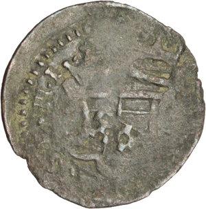 D/ Massa di Lunigiana. Alberico I Cybo Malaspina (1568-1623). Quattrino con stemma e piramide tra raggi.    MIR 294. AE. g. 0.50  mm. 16.00    MB.