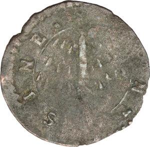 R/ Massa di Lunigiana. Alberico I Cybo Malaspina (1568-1623). Quattrino con stemma e piramide tra raggi.    MIR 294. AE. g. 0.50  mm. 16.00    MB.