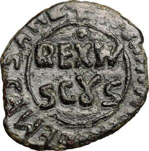 D/ Messina. Guglielmo II (1166-1189). Follaro.    Sp. 119/120. MIR 38. CU. g. 1.28  mm. 15.00    BB-BB+.