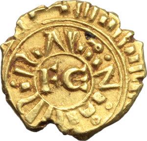 D/ Messina. Federico II (1197-1250). Multiplo di tarì.    Sp. 59. MIR 65. AU. g. 1.94  mm. 12.00  R.  SPL.