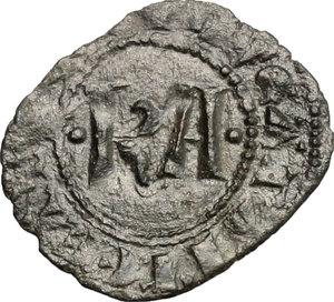 D/ Messina. Carlo I d'Angiò (1266 -1282). Denaro.    Sp. 37. MIR 160. MI. g. 0.61  mm. 15.00  NC.  BB-BB+.