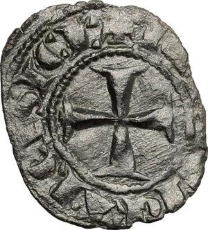 R/ Messina. Carlo I d'Angiò (1266 -1282). Denaro.    Sp. 37. MIR 160. MI. g. 0.61  mm. 15.00  NC.  BB-BB+.